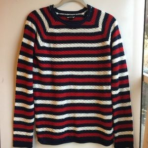 JOE BOXER NAVY/RED/WHITE STRIPED SWEATER SIZE XL
